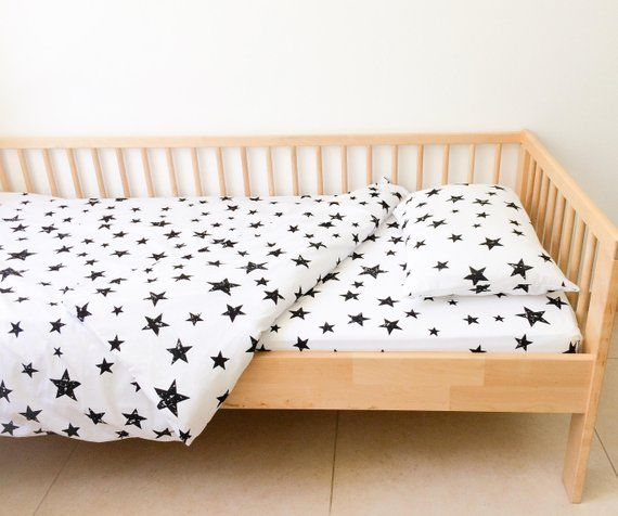 Stars Twin Sheets Set Neutral Nursery Decor Geometric Sheets Kids Bedding Fitted Sheets Boy In 2021 Toddler Bed Duvet Cover Nursery Decor Neutral Toddler Bed Duvet