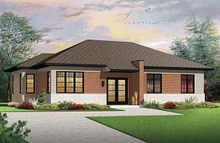 Lotus 2 3 Bedroom Contemporary House Plan Open Living Space Affordable To Build