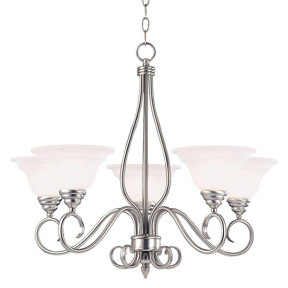 Illumine 5 Light Pewter Chandelier With