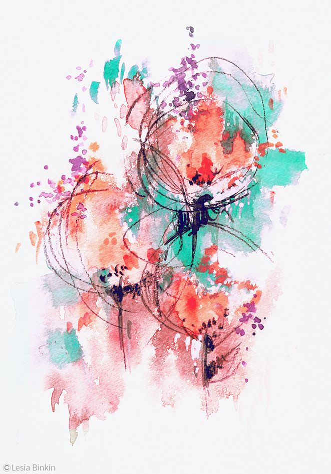 Watercolor Abstract Painting 191a In 2020 Watercolor Paintings