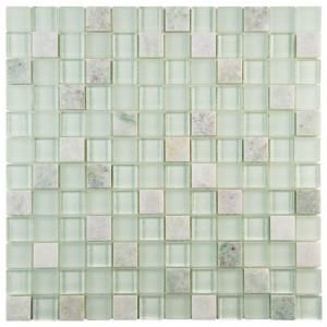 Merola Tile Tessera Square Ming 11 5 8 In X 11 5 8 In X 8 Mm Glass And Stone Mosaic Tile Gitmmsq Stone Mosaic Tile Stone Mosaic Wall Mosaic Wall Tiles