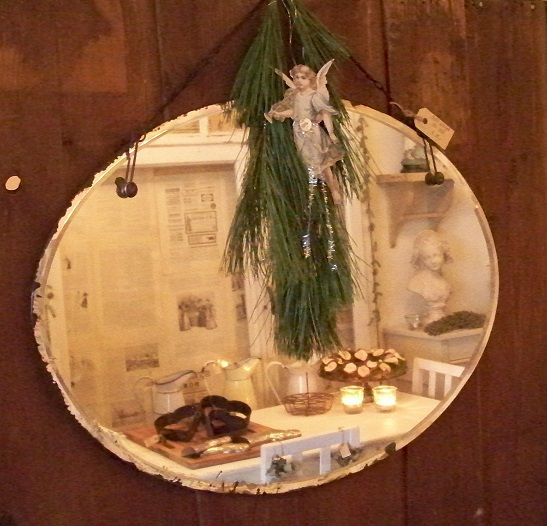 Stoere ovale spiegel zonder lijst maar met een for Spiegels zonder lijst