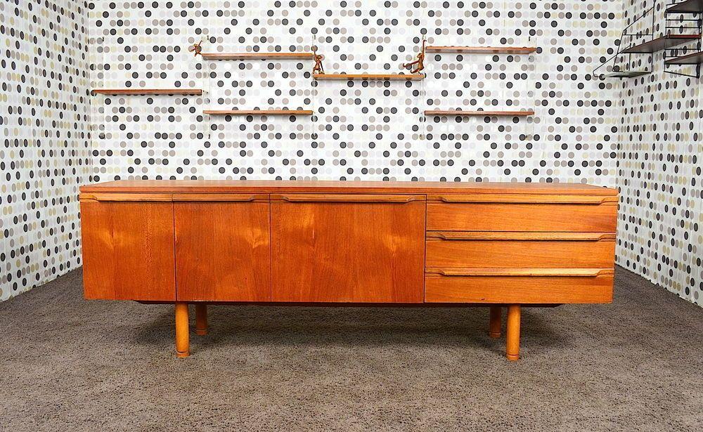 Enfilade Design Scandinave en Teck Vintage 1968 - DesignVintage