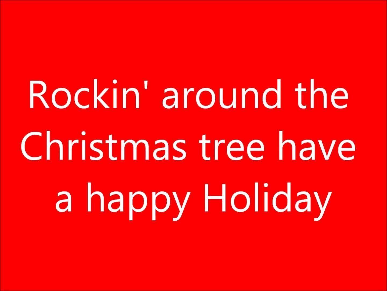 Rockin Around The Christmas Tree Lyrics Best Christmas Songs Favorite Christmas Songs Popular Christmas Songs