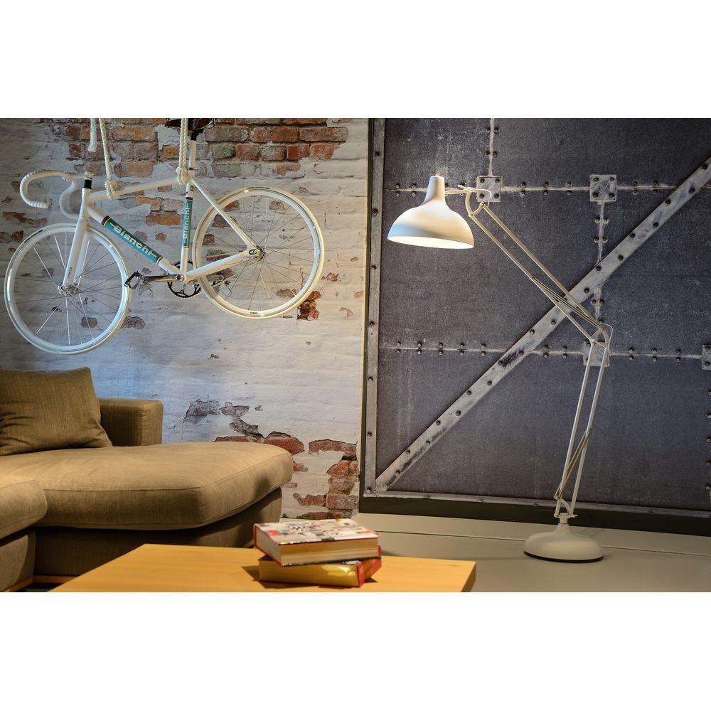 Bestel de Witte vloerlamp Evid, Grote lampenkap op Lampgigant.nl ✓ Snel gratis bezorgd ✓ Grootste collectie in NL & BE!