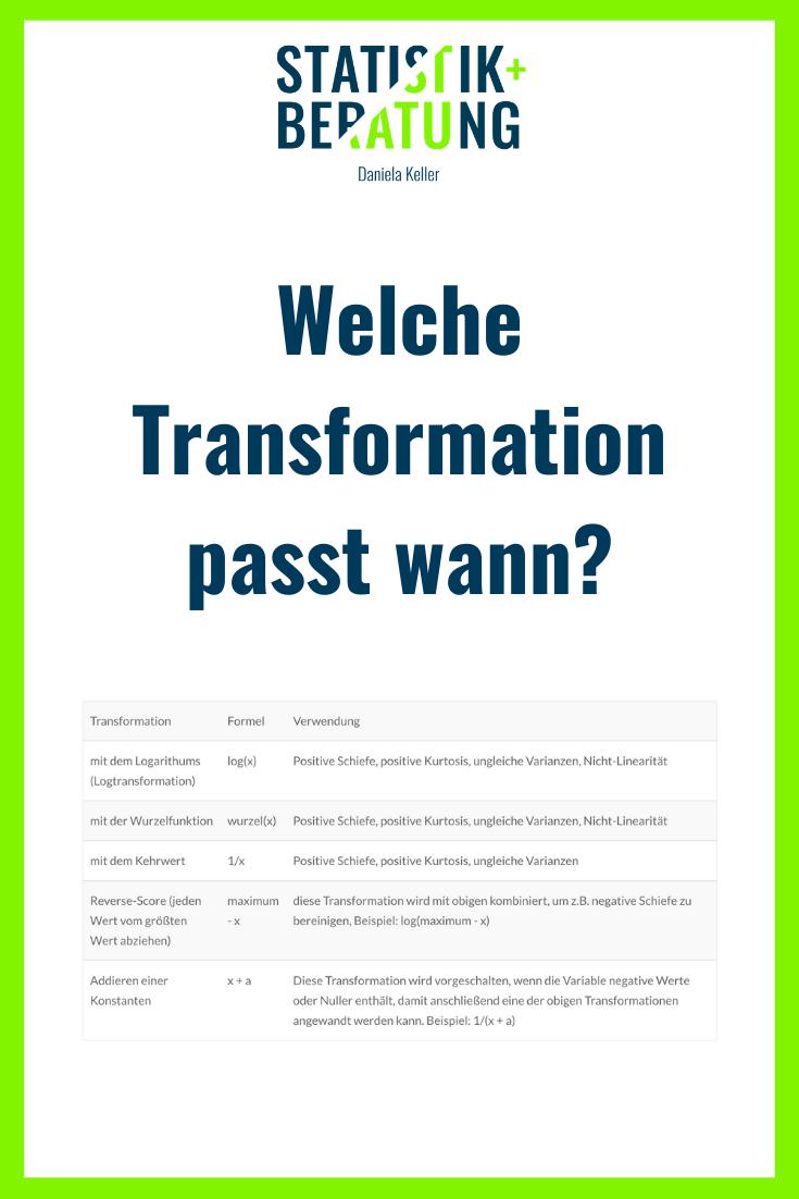 Transformationen Wozu Und Wie In 2020 Mit Bildern Wissenschaftliche Arbeit Statistik Normalverteilung