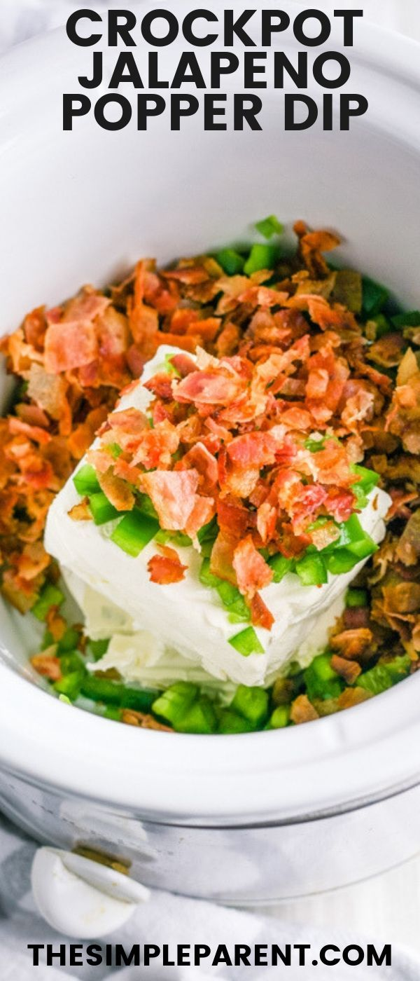 Slow Cooker Jalapeno Popper Dip Slow Cooker Jalapeno Popper Dip is easy to make in the Crockpot. Th