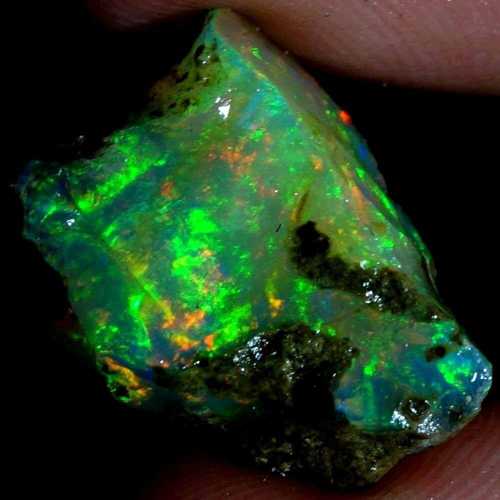 100/%Natural Ethiopian Multi flash Opal Rough Lot Play Of Color Gemstone