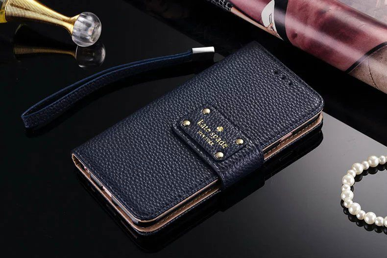 buy online dd92d d9850 leather kate spade iphone 7 wallet case cover blue | Randoms | Kate ...