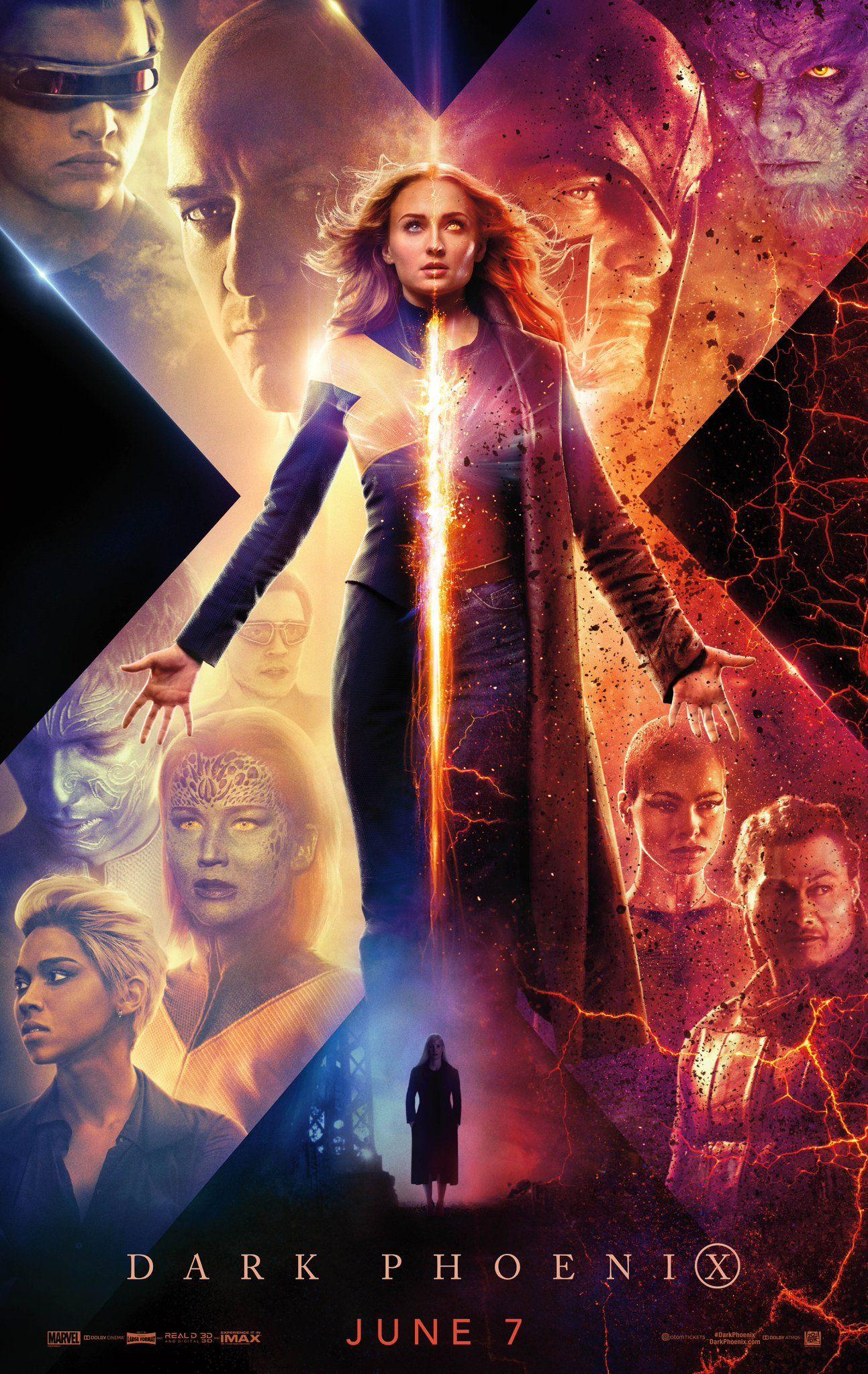 New X Men Dark Phoenix Poster Next Trailer Coming Wednesday Ign Dark Phoenix Full Movies Online Free X Men