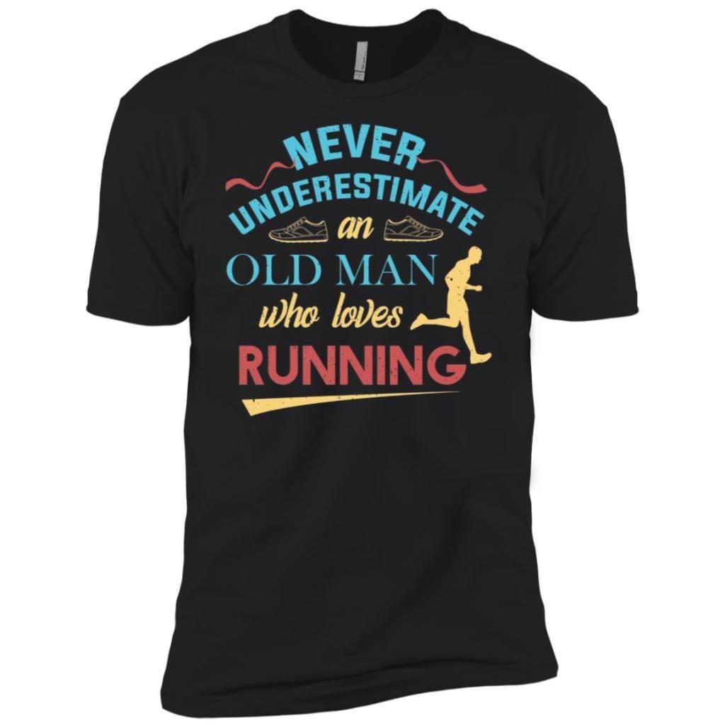 Funny runner gifts old man loves to run dad grandpa men
