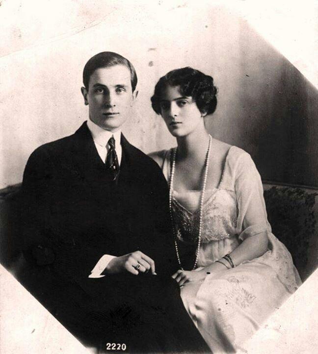 Prince Felix Youssoupov et sa femme la princesse Irina Alexandrovna Romanov de Russie à son palais de la Moïka
