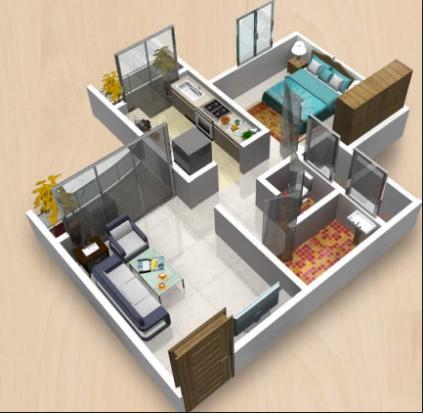 1bhk House Design