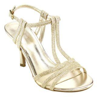 Beston CC95 Women's Sparking Ankle Strap Mid Heel Sling Back Dress Sandals