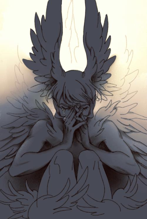 Kết quả hình ảnh cho anime angel boy desperation