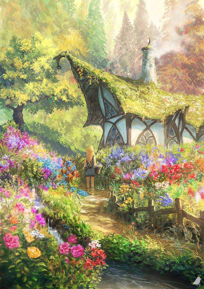 Secret Garden By よー清水 クリスタ技法書発売 Fantasy Art