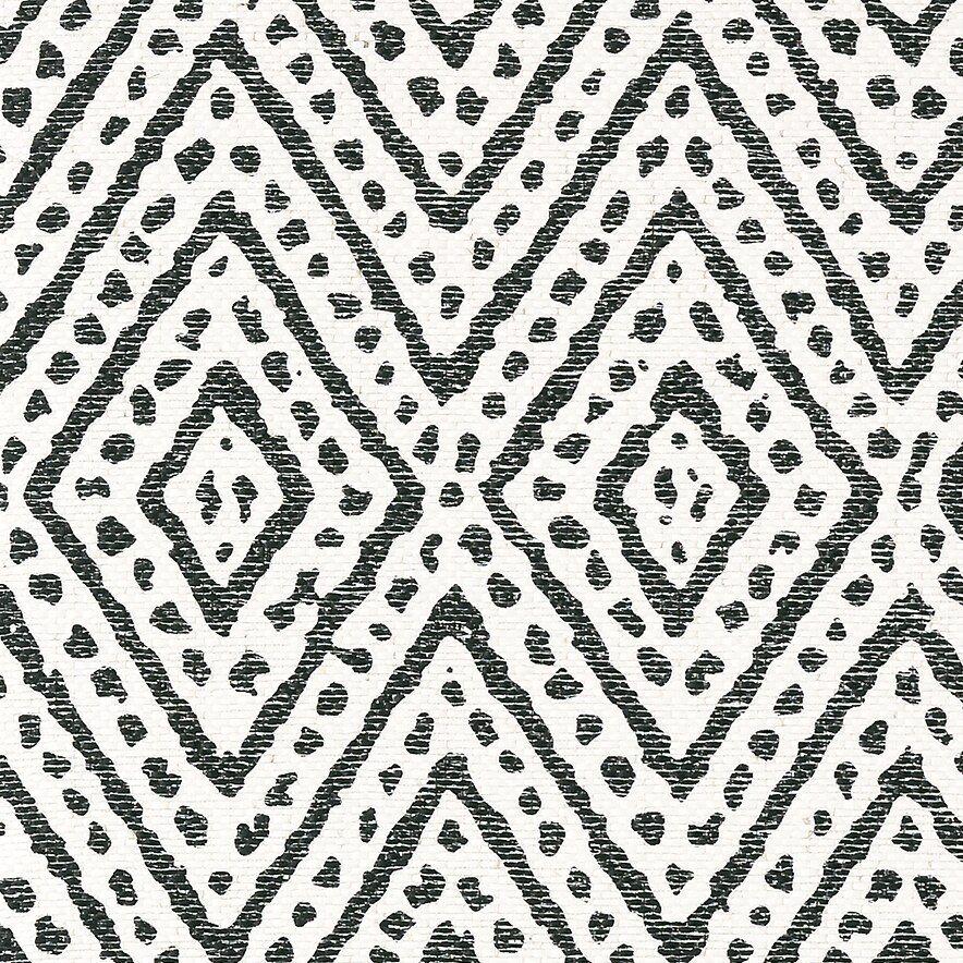 Vero black / white Grasscloth wallpaper, Trellis