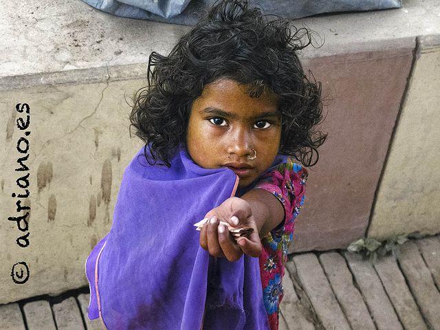 Niña en Nepal.