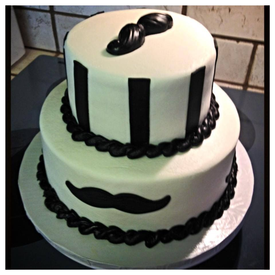 Black and white mustache cake The Great Cakery Pinterest