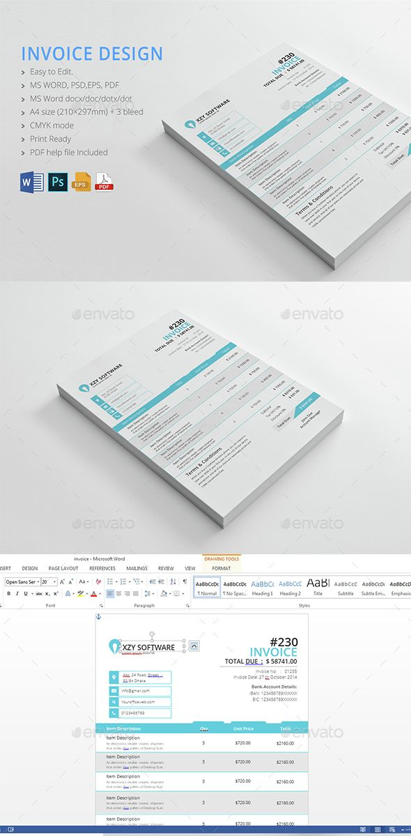 Invoice  Text Color Invoice Design And Business Proposal