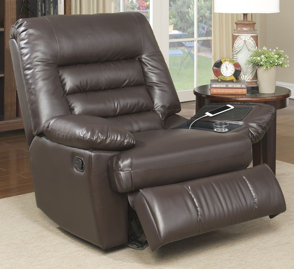 Big and tall memory foam massage recliner chair living room bedroom relaxing serta