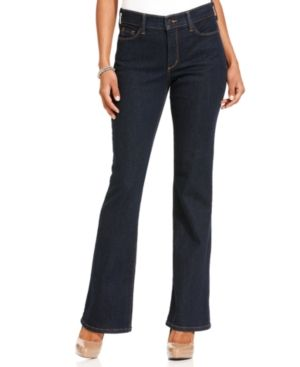 Nydj sarah stretch bootcut jeans blue black wash