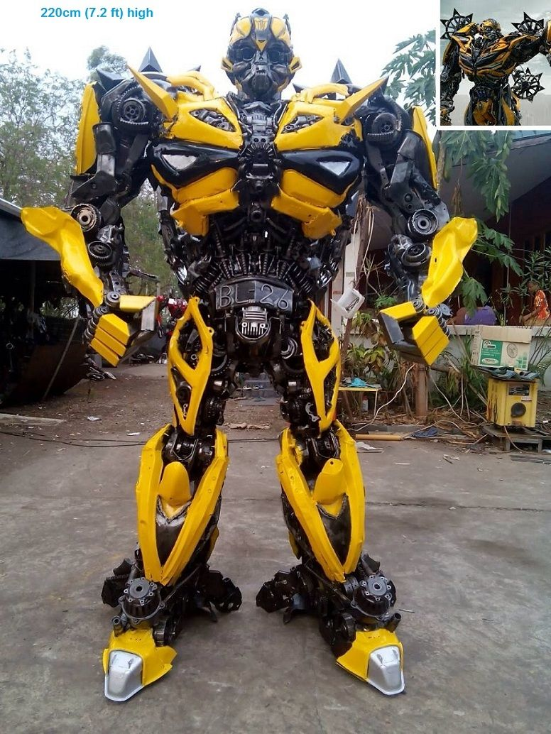 Transformers Bumblebee Action Figur LIfe SIZE Metall