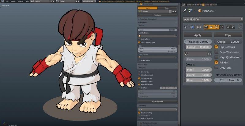 Blender tutorial realtime outline character outline