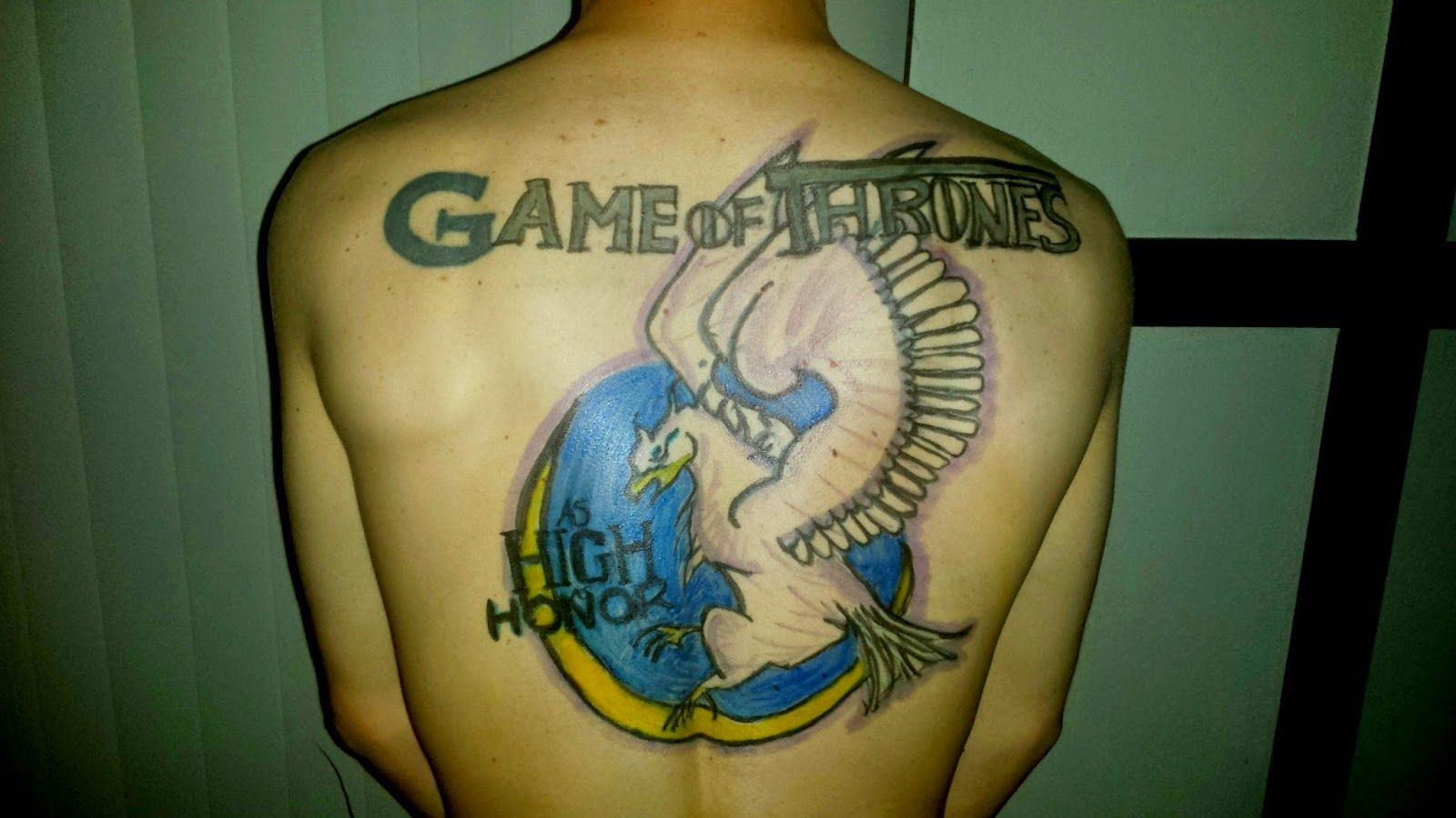 Love this Game of Thrones back tattoo