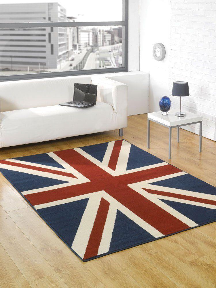 Buckingham RED/WHITE/BLUE Union Jack Rug Union jack