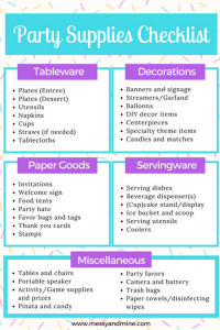 Photo of Checkliste für Partybedarf – Messy & Mine