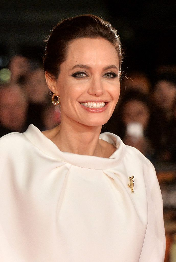 Angelina Jolie attends the UK Premiere of 'Unbroken' at Odeon Leicester Square on November 25, 2014 in London, England