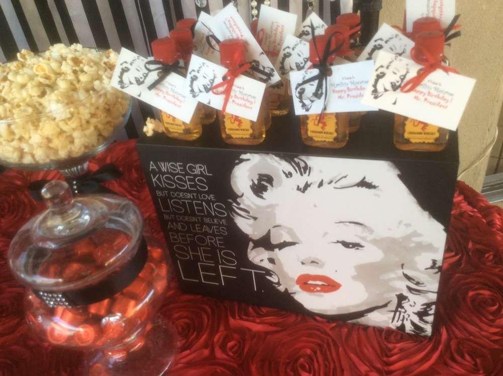 Marilyn Monroe Birthday Party Ideas Adult Birthday Party Adult Party Themes Birthday Party Themes