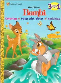Bambi Coloring, Paint with Water, Activities Golden