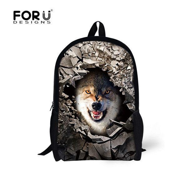 aa90ae28c31c FORUDESIGNS Supreme Customize Backpack Cute Animal Panda Printing ...