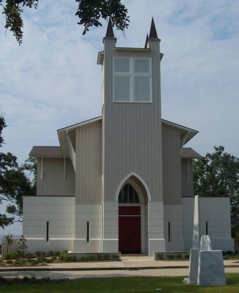 St Peter's by-the-Sea Episcopal Church, Gulfport, Mississippi; across the street from my home away from home