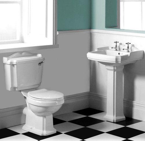 Traditional Victorian Edwardian Bathroom 5 Piece Suite Basin Toilet Taps Edwardian Bathroom Bathroom Toilet