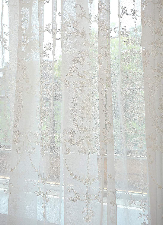 gwell rideau voilage super soft blanc