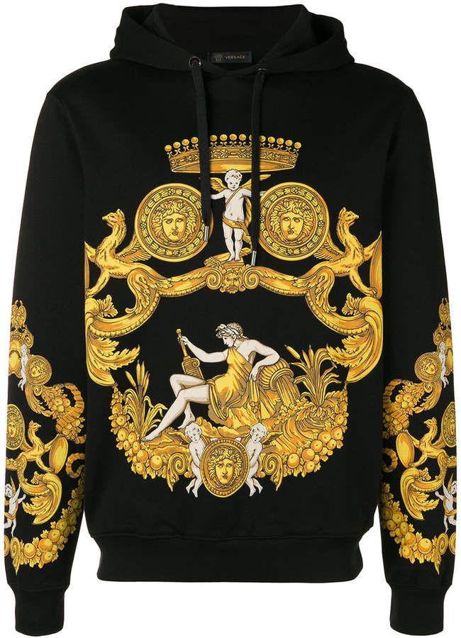 0738c6ed5af Versace Baroque print hoodie