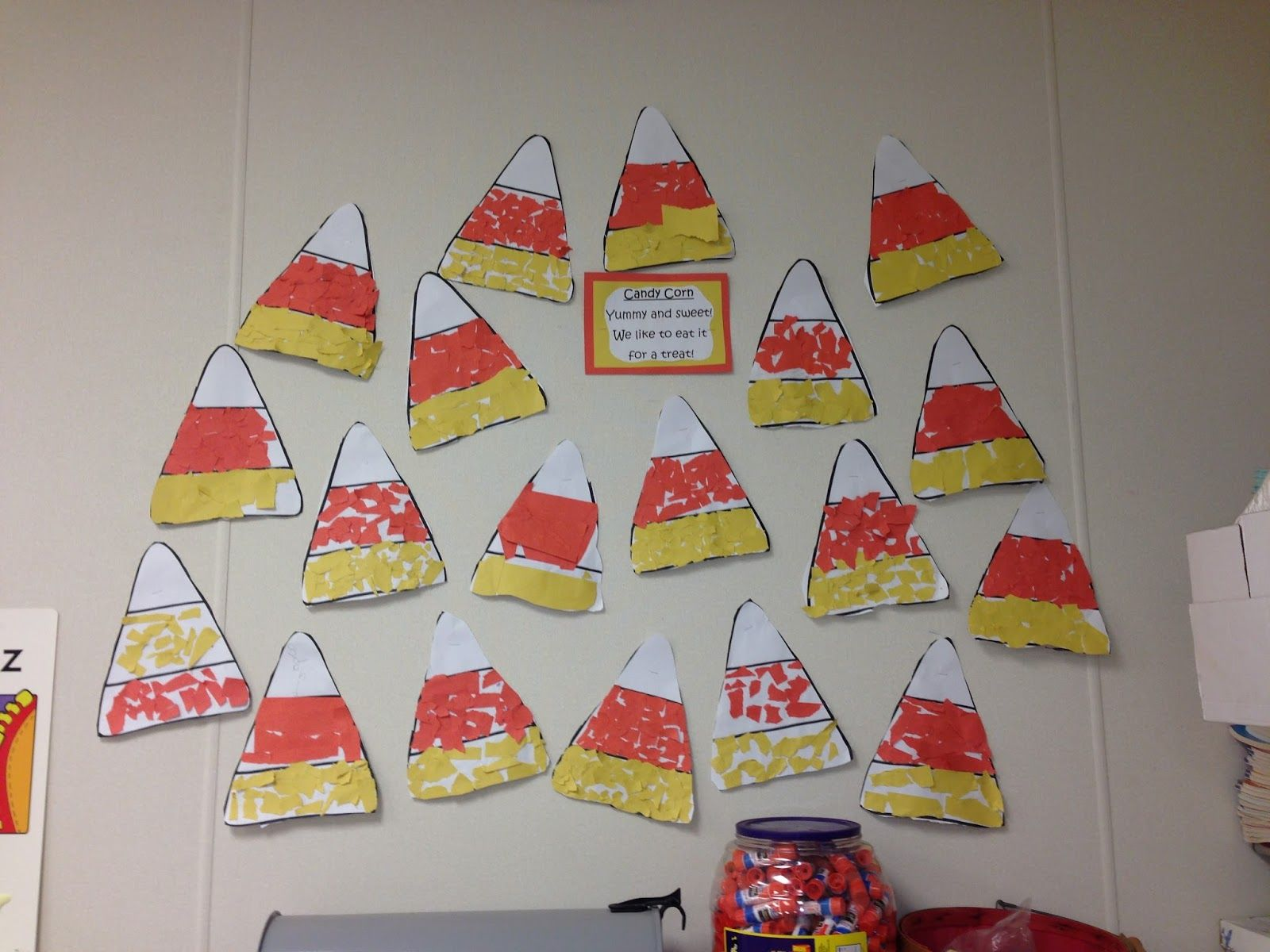 Candy Corn Torn Paper Candy Corn Craft For Kindergarten