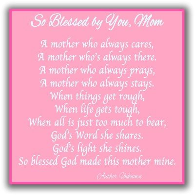 6 Short Mother's Day Poems | My Style | Mothers day poems, Christian