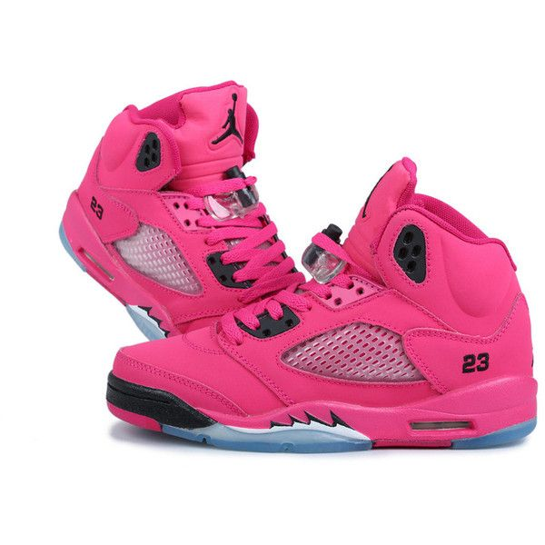 website for discount undefeated x crazy price Pas cher Air Jordan 5 femme chaussures roses ($85) ❤ liked ...