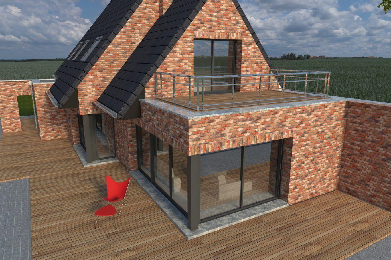 Pingl par maisonneuve sur maisonneuve pinterest for Construction maison brique