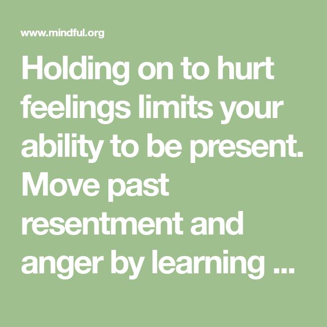holding anger inside