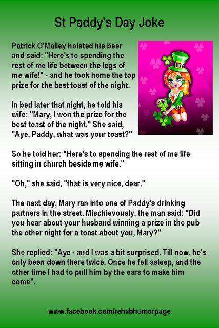 Rehab Humor My Lovely Wife St Patricks Day Jokes Irish Jokes Jokes