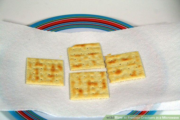 Freshen Crackers in a Microwave Crackers, Freshener, Food