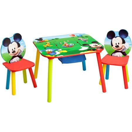 Disney Mickey Mouse Storage Table and Chairs Set - Walmart.com - Disney Mickey Mouse Storage Table And Chairs Set - Walmart.com