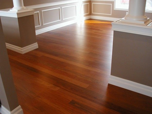 Drop Dead Gorgeous Hardwood Floor Color For Dark Baseboard And