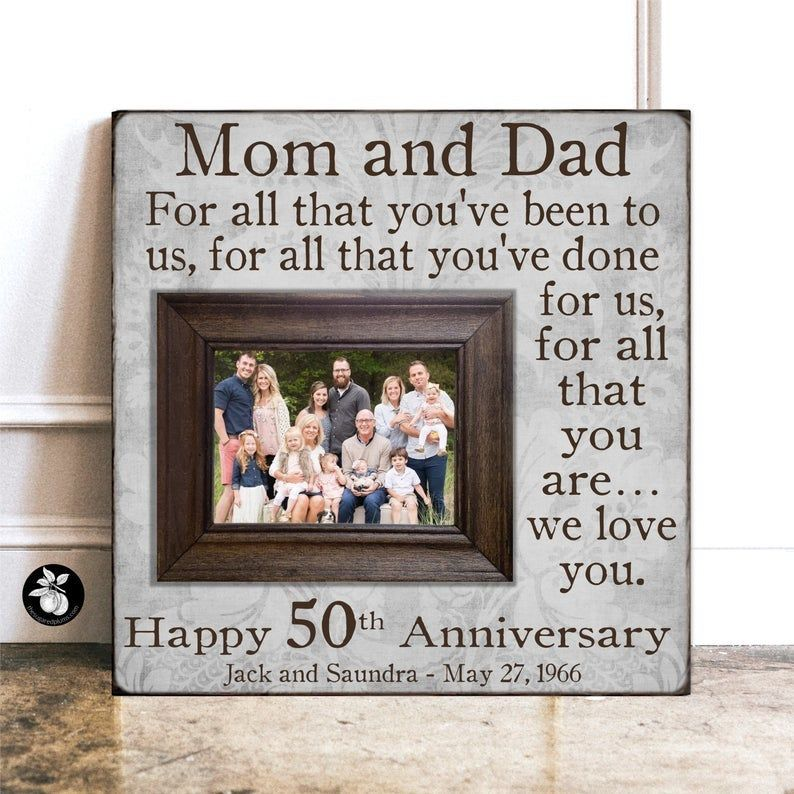 Anniversary Frame READY TO SHIP Anniversary Gift For Parents 16x16 THE SUGARED PLUMS 50th Anniversary Gift For All That You Have Been To Us