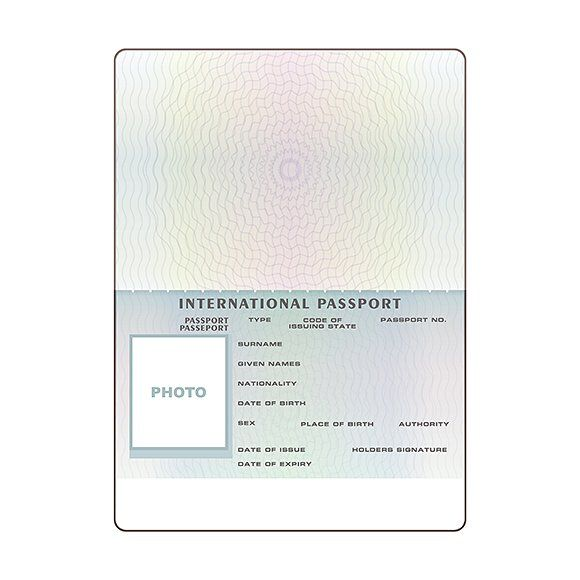 International Passport Template By Alex Oakenman On